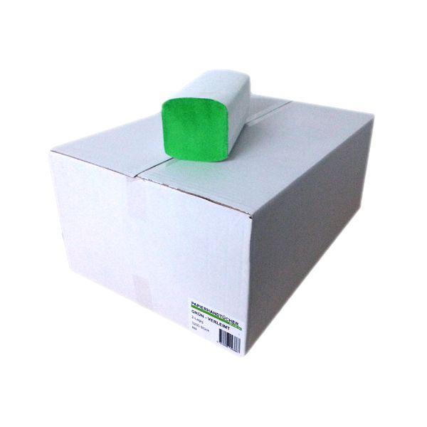 Falthandtücher 2-lagig 23cm x 23cm grün 3200 Blatt
