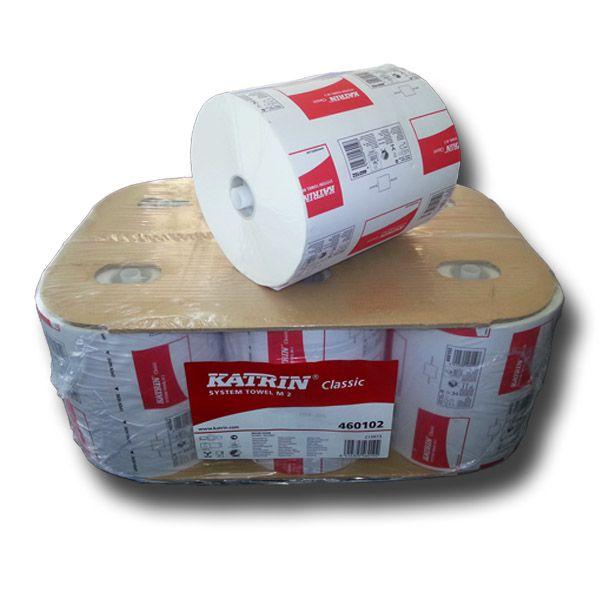 KATRIN Classic System M2 Handtuchrollen 6 Rollen pro VE Art.460102