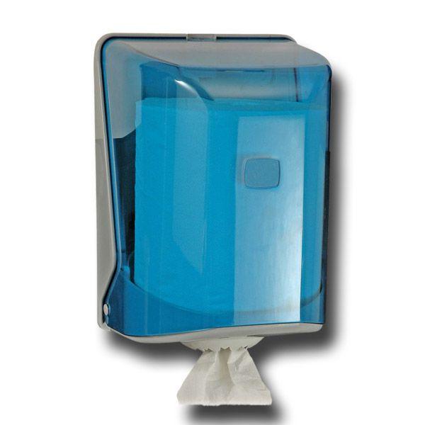 Handtuchrollenspender Innenabrollung transparent blau