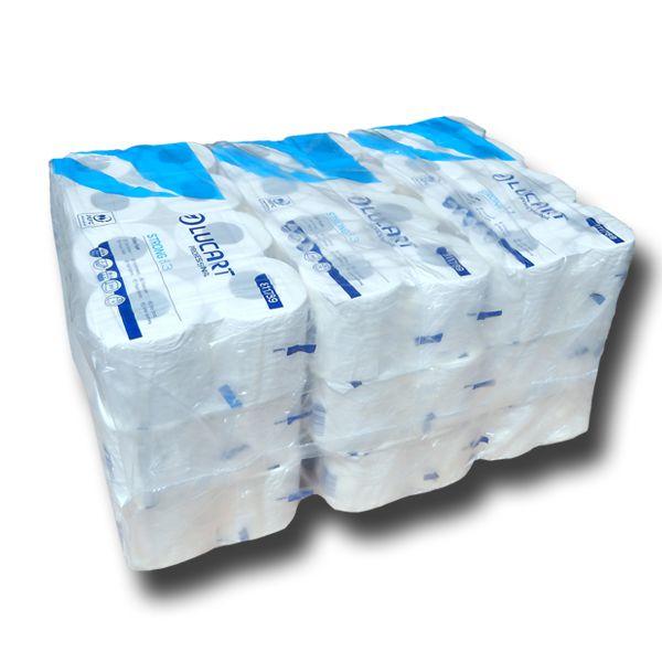 Toilettenpapier Lucart Strong Comfort 3-lagig hochweiß Zellstoff 72 Rollen pro VE