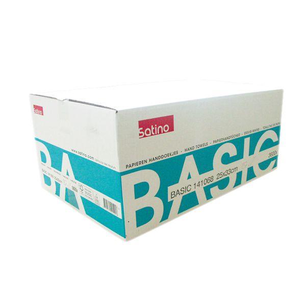 Wepa Falthandtücher 25x33cm 1-lagig natur Recycling Qualität 3600 Blatt pro Karton