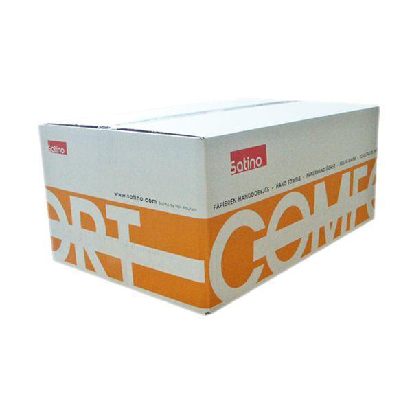 Satino Comfort Falthandtücher 25x33cm 2-lagig naturweiß Recycling Qualität 2880 Blatt pro Karton
