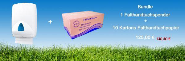 Bundle Falthandtücher HT006 + Falthandtuchspender IN-F01/WS