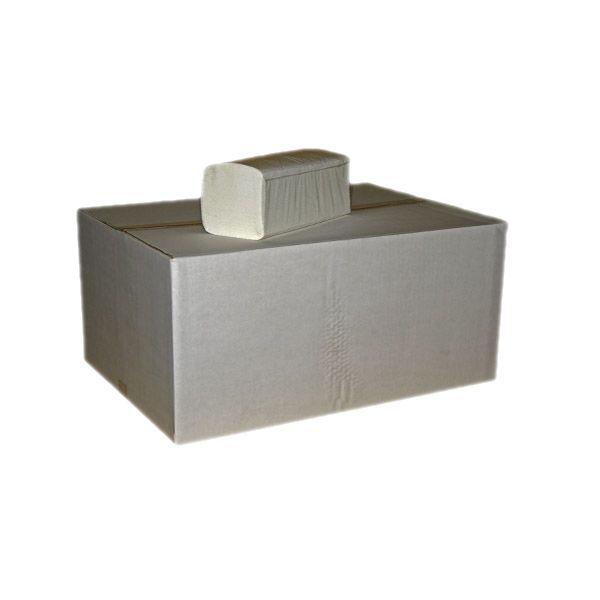 Falthandtücher 2-lagig hochweiß Zellstoff 3200 Blatt pro Karton